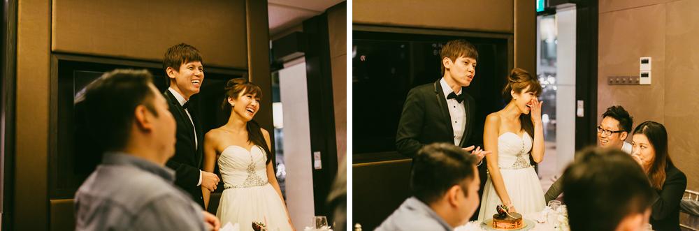 Wedding speeches at Singapore wedding reception