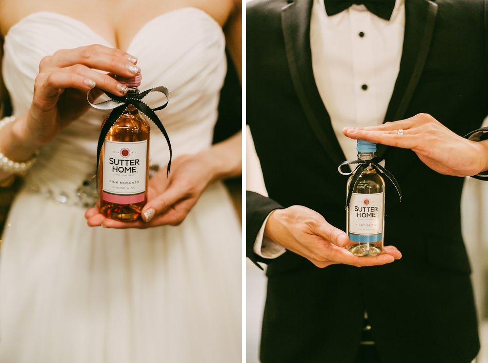 Sutter Homes wedding favours at Singapore Wedding reception